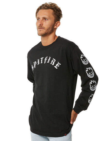 BLACK MENS CLOTHING SPITFIRE TEES - 52010053ABLK
