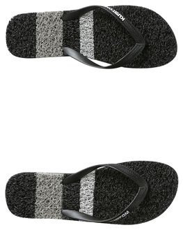 STRIPE BLACK MENS FOOTWEAR KUSTOM THONGS - 4977203BSTBLK