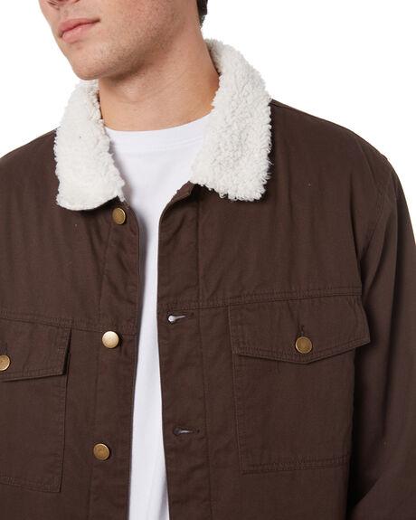 MOCHA MENS CLOTHING SWELL JACKETS - S5214381MOC