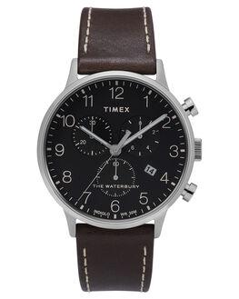 BLACK BROWN MENS ACCESSORIES TIMEX WATCHES - TW2T28200BLKBR
