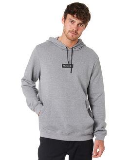 GREY HEATHER MENS CLOTHING HURLEY JUMPERS - BQ0575050