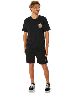 ACIDBLACK MENS CLOTHING SANTA CRUZ TEES - SC-MTC8952ACBLK