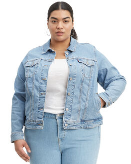 SUN BAKED BLUE WOMENS CLOTHING LEVI'S JACKETS - C77994-0063