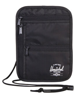 BLACK MENS ACCESSORIES HERSCHEL SUPPLY CO WALLETS - 10531-00001-OSBLK