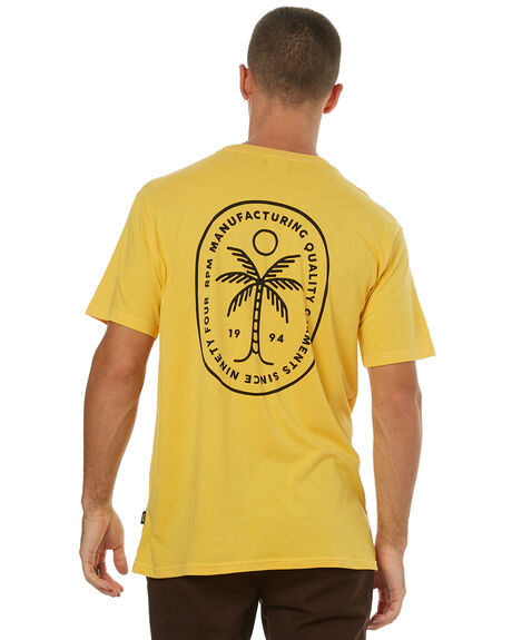 YELLOW MENS CLOTHING RPM TEES - 7HMT03BYLLW