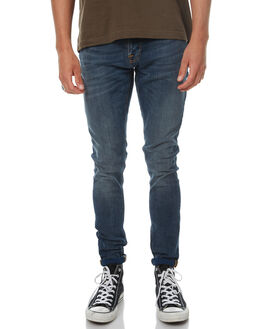 DOUBLE INDIGO MENS CLOTHING NUDIE JEANS CO JEANS - 112510DIND