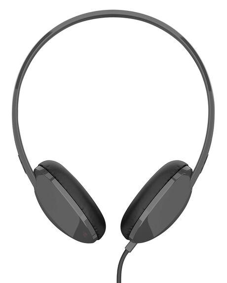 BLACK CHARCOAL MENS ACCESSORIES SKULLCANDY AUDIO + CAMERAS - S2LHY-K576BLK