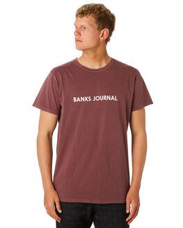 PLUM MENS CLOTHING BANKS TEES - WTS0397PLM