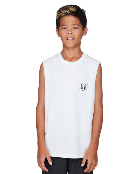 WHITE KIDS BOYS BILLABONG TOPS - BB-8503506-WHT