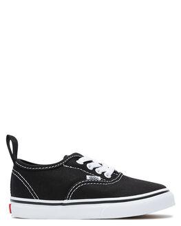 BLACK WHITE KIDS GIRLS VANS FOOTWEAR - VN04A1LXNBLKW