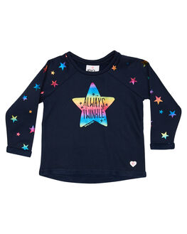NAVY RAINBOW FOIL KIDS TODDLER GIRLS EVES SISTER JUMPERS - 8010059NAVY