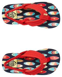 RED SURFER KIDS BOYS REEF THONGS - 2345RSU