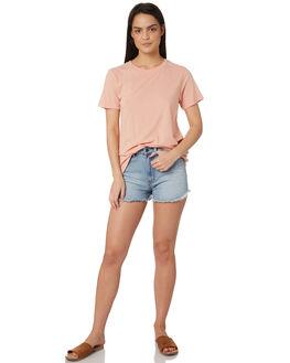 SHELL PINK WOMENS CLOTHING RUSTY TEES - TTL0933SHP