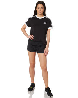 BLACK WOMENS CLOTHING ADIDAS SHORTS - DV2555BLK