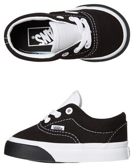 BLACK WHITE KIDS BOYS VANS FOOTWEAR - VNA38EBVIGBLKW