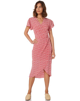 RED FLORAL WOMENS CLOTHING RUE STIIC DRESSES - WS18-35-RF-FRFLO