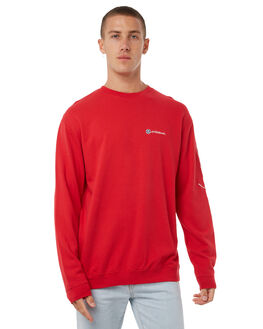 BRIGHT RED MENS CLOTHING STUSSY JUMPERS - ST085204BRED