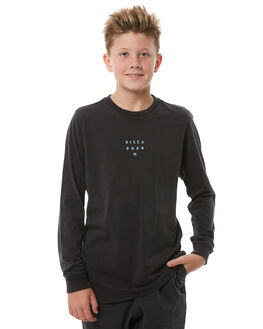 BLACK KIDS BOYS BILLABONG TEES - 8585177BLK