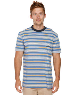 BIJOU BLUE SLIDE OUT MENS CLOTHING QUIKSILVER TEES - EQYKT03821BNG3