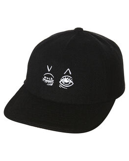 BLACK MENS ACCESSORIES RVCA HEADWEAR - R162567ABLK