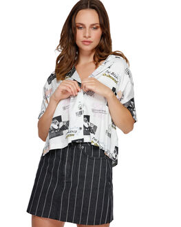 ANTIQUE WHITE WOMENS CLOTHING RVCA FASHION TOPS - R291181AWHI