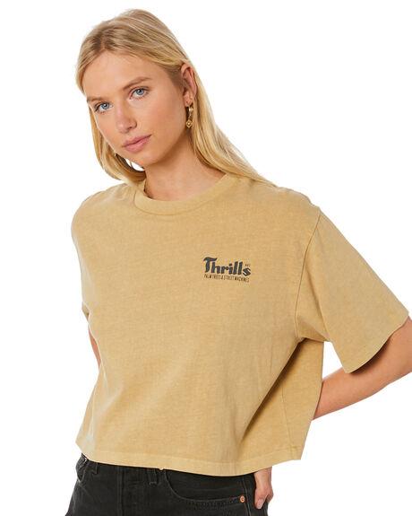 FADED GOLD WOMENS CLOTHING THRILLS TEES - WTS20-114KFGLD