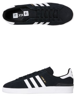 BLACK WHITE MENS FOOTWEAR ADIDAS SNEAKERS - SSB22716BLKM