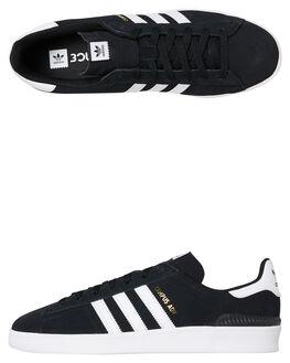 BLACK WHITE MENS FOOTWEAR ADIDAS SKATE SHOES - SSB22716BLKM