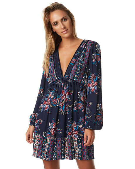 PATCHWORK WOMENS CLOTHING TIGERLILY DRESSES - T373403PATCH