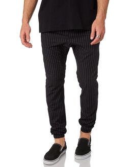 BLACK WHITE MENS CLOTHING ZANEROBE PANTS - 718-MAKBKWH