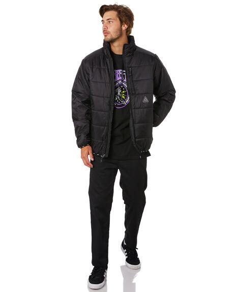 BLACK MENS CLOTHING HUF JACKETS - JK00159-BLACK