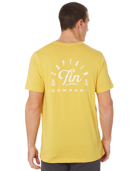 YELLOW MENS CLOTHING CAPTAIN FIN CO. TEES - CT192005YLW