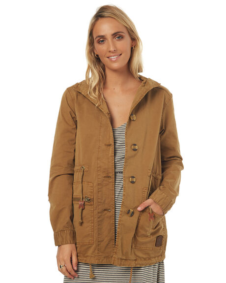 TAN WOMENS CLOTHING ELEMENT JACKETS - 276458TAN