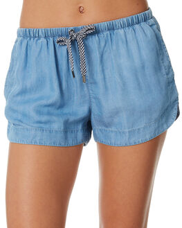 MID BLUE WOMENS CLOTHING ALL ABOUT EVE SHORTS - 6423070BLU