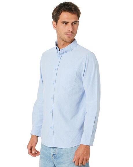 BLUE MENS CLOTHING MR SIMPLE SHIRTS - M-05-32-26BLU