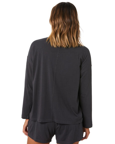 BLACK WOMENS CLOTHING SWELL FASHION TOPS - S8211005BLACK