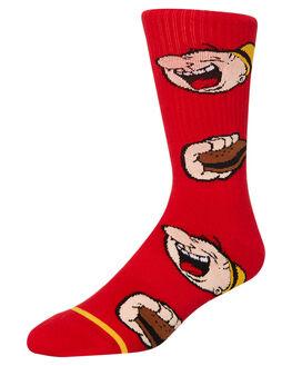 RED MENS CLOTHING HUF SOCKS + UNDERWEAR - SK00380-RED