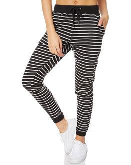 BLACK STRIPE WOMENS CLOTHING O'NEILL PANTS - 3723106BLK