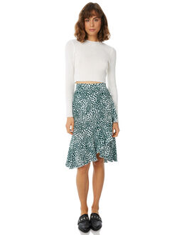 TEAL HEART WOMENS CLOTHING RUE STIIC SKIRTS - SW18-47THTEAL