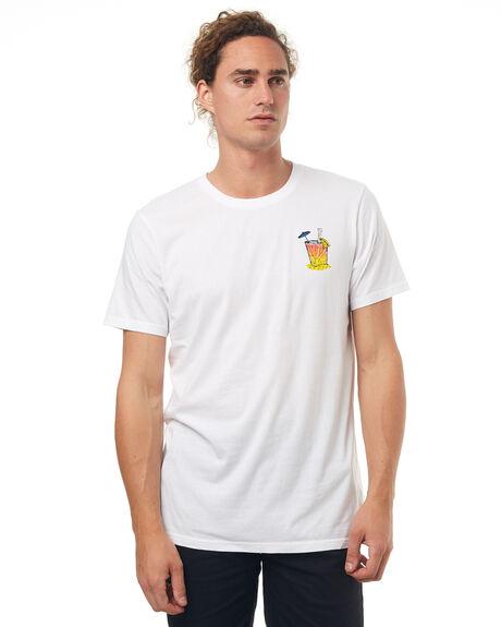 WHITE MENS CLOTHING VONZIPPER TEES - 3972001WHT