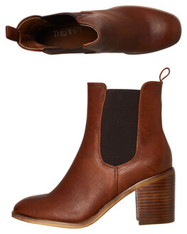 TAN BURNISHED WOMENS FOOTWEAR THERAPY BOOTS - SOLE-1212BUTAN