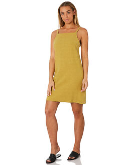 CHARTREUSE WOMENS CLOTHING RUSTY DRESSES - DRL0980CRT