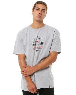HEATHER GREY MENS CLOTHING HUF TEES - TS00490HTGRY