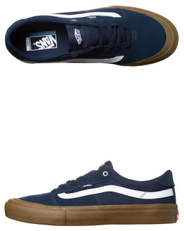 NAVY GUM WHITE MENS FOOTWEAR VANS SKATE SHOES - VN-047X4MXBLU