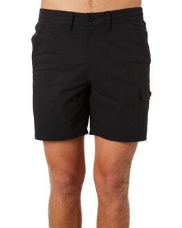 DIRTY BLACK MENS CLOTHING BANKS SHORTS - WS0120DBL