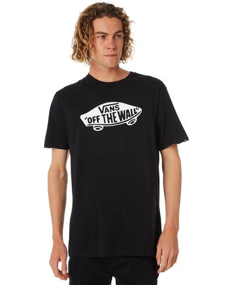 BLACK WHITE MENS CLOTHING VANS TEES - VN-0JAYY28