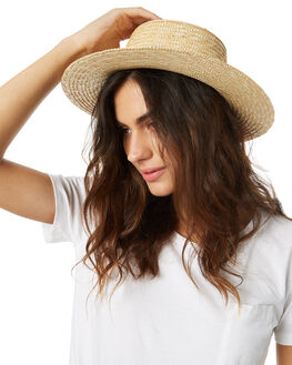 NATURAL WOMENS ACCESSORIES LACK OF COLOR HEADWEAR - STRAWBOANAT1