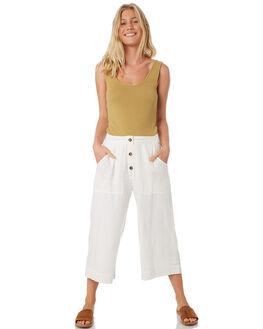 WHITE WOMENS CLOTHING RUSTY PANTS - PAL1087WHT