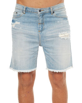 FADED BLUE MENS CLOTHING THE PEOPLE VS SHORTS - HS17029FBLU