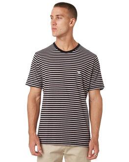BLACK STRIPE MENS CLOTHING BARNEY COOLS TEES - 100-CC1BLKST
